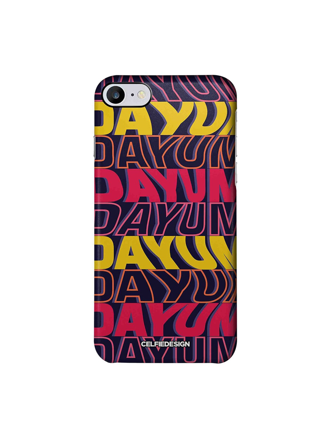 CelfieDesign Pink   Yellow Dayum Print Apple iPhone 7 Back Cover