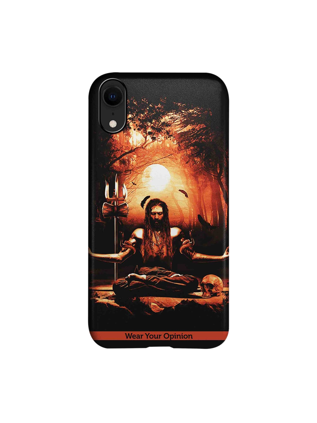 Meditation Aghori Apple iPhone XR Back Cover Wear Your Opinion