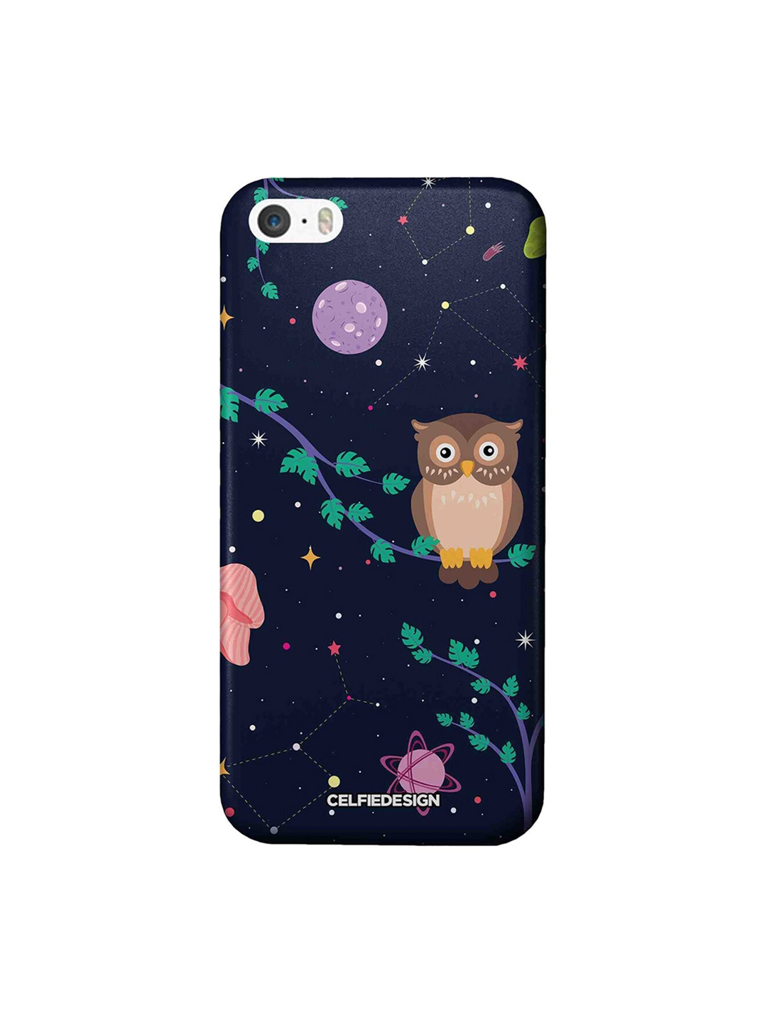 CelfieDesign Space Owl Apple iPhone SE Back Cover