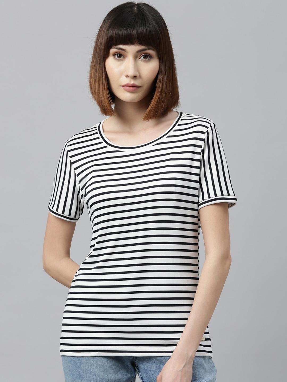 Park Avenue Woman Women White Striped Top