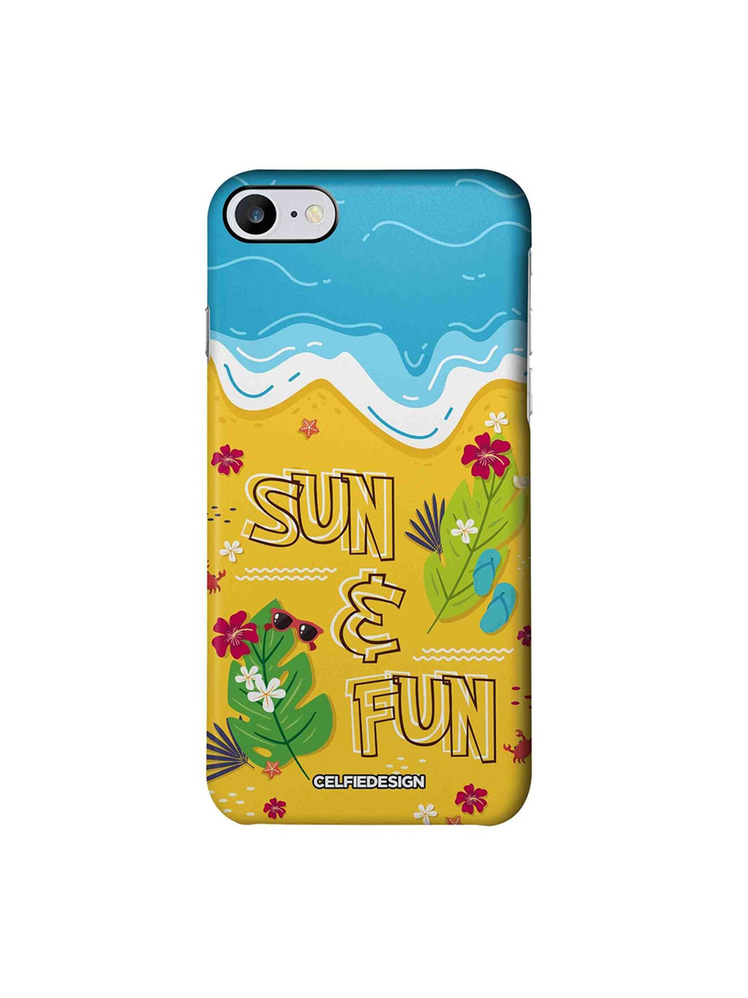CelfieDesign Yellow   Blue Sun And Fun Apple iPhone 7 Back Cover Base 501