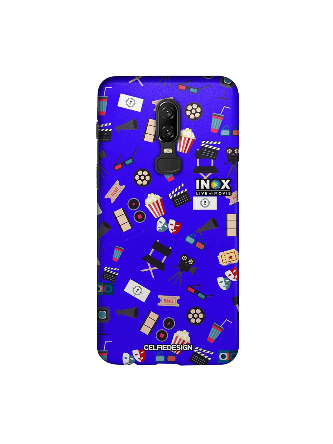 CelfieDesign Blue   Balck Love Cinema OnePlus 6 Sustainable Back Cover