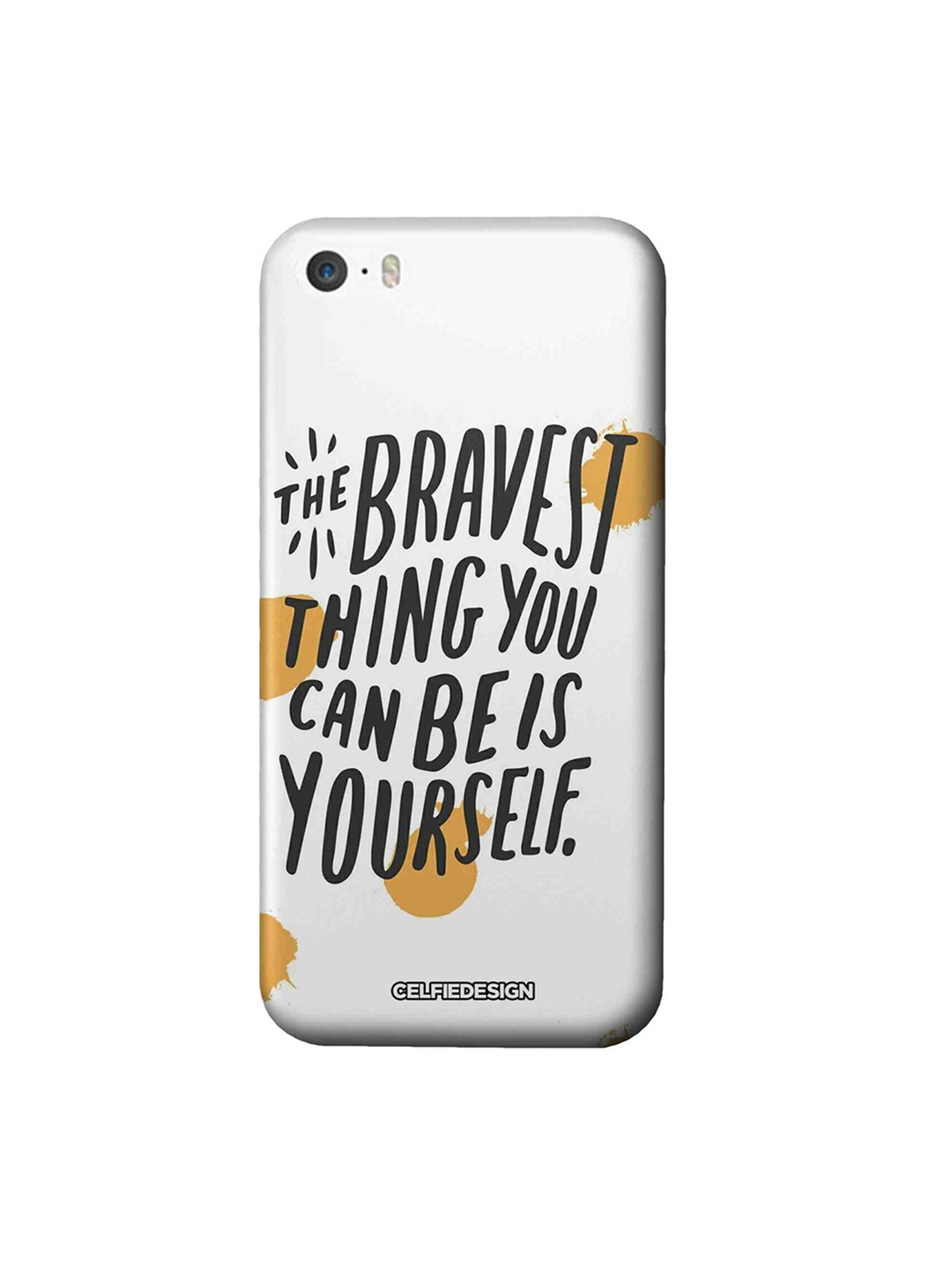 CelfieDesign White   Black Being Yourself Quirky Sustainable Apple iPhone SE Mobile Back Cover