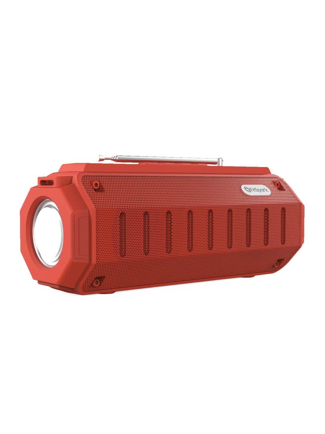 FitSpark Red DHUN Portable Wireless Speaker with LED Lights
