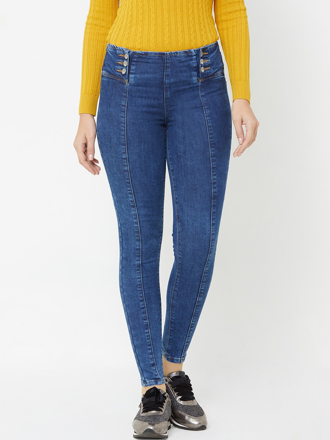 Kraus Jeans Women Blue Skinny Fit Jeans