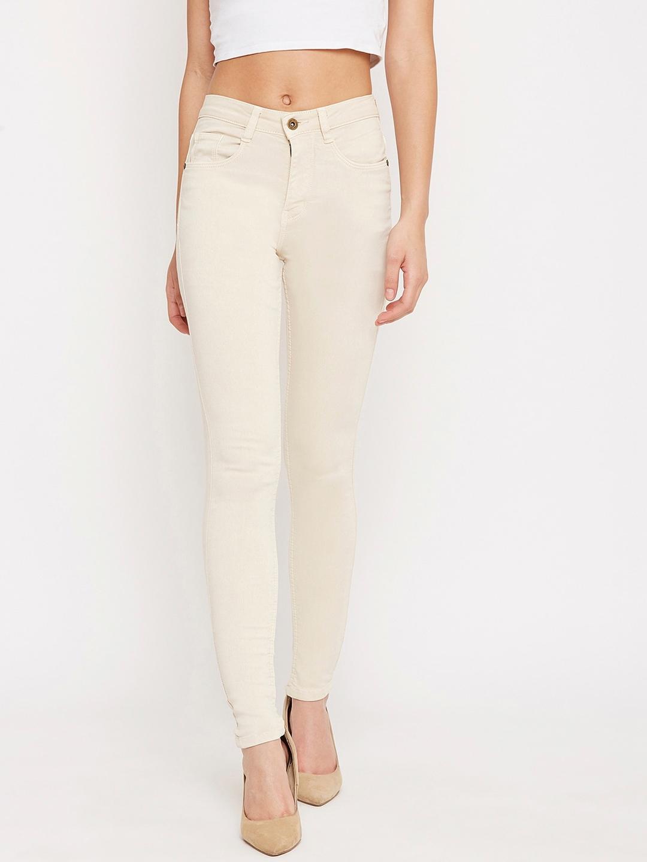 C9 AIRWEAR Women Beige Slim Fit Jeans