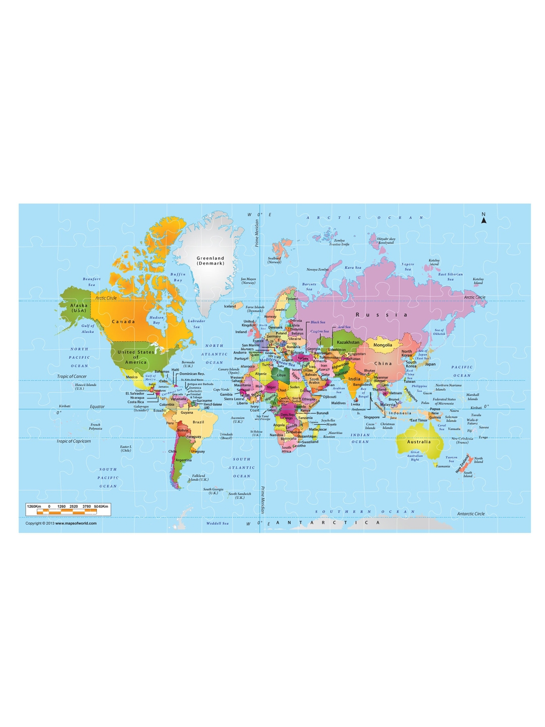 Play & Learn World Map Puzzle