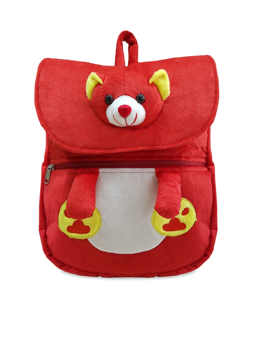 Ultra Kids Red Teddy Face Plush Soft Backpack Toy
