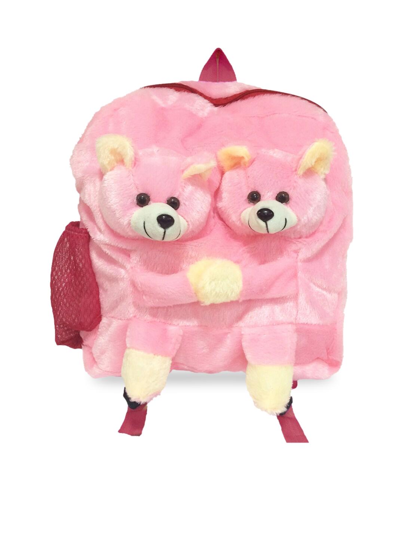 Ultra Kids Pink Ultra Teddy School Bag Plush Bag Soft Toy