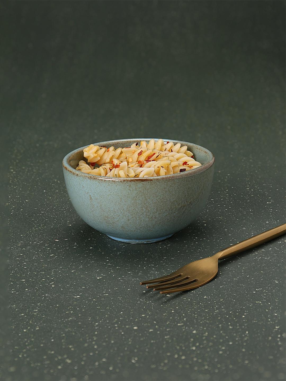 ellementry Blue   Brown Rustic Ceramic Bowl