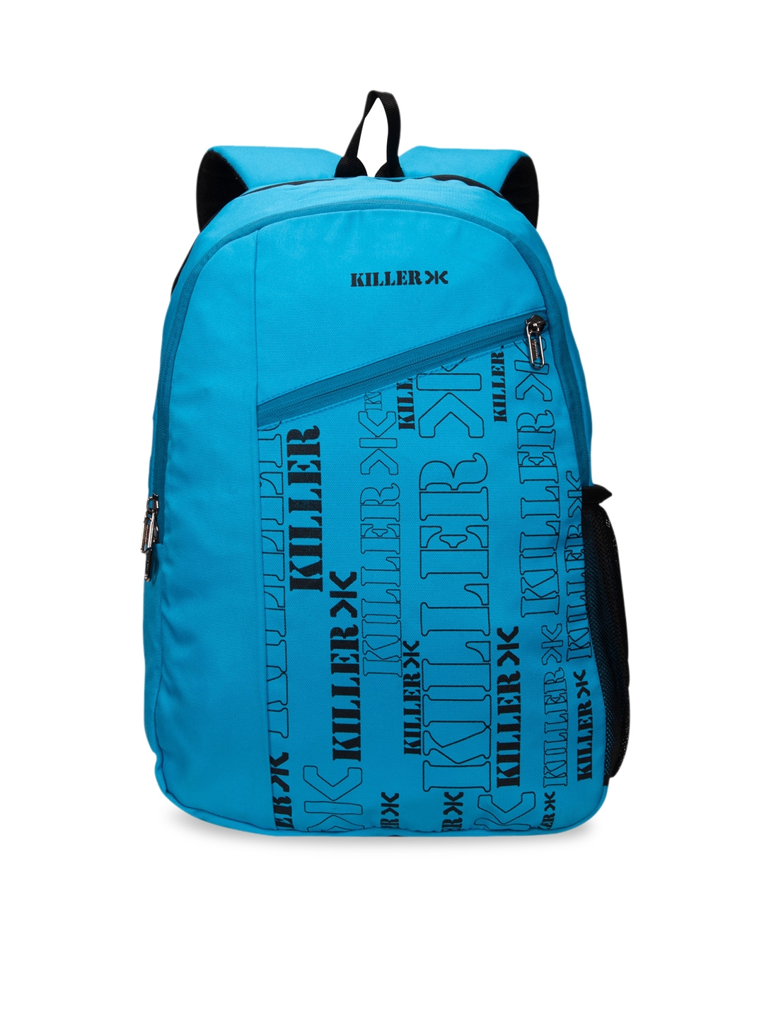 Killer Unisex Blue   Black Printed Medium Backpack