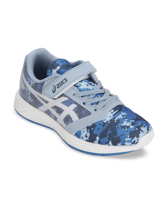 ASICS Kids Navy Blue   White PATRIOT 10 PS Running Shoes
