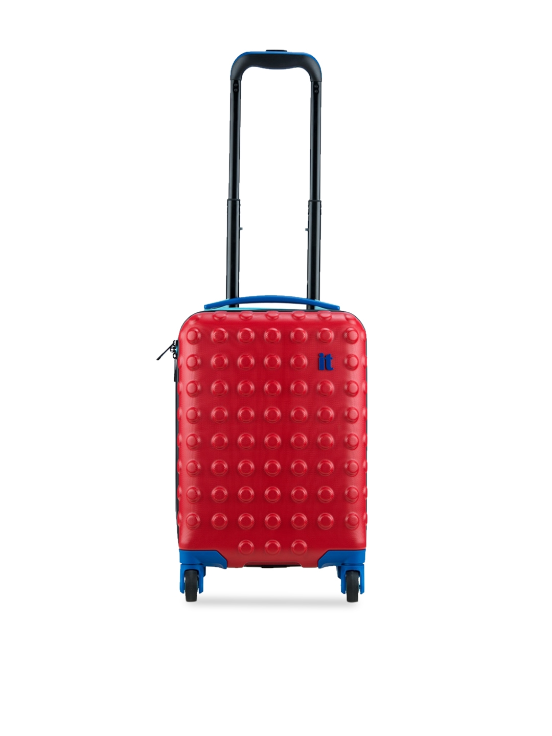 IT luggage Kids Red Textured Cabin Trolley Bag