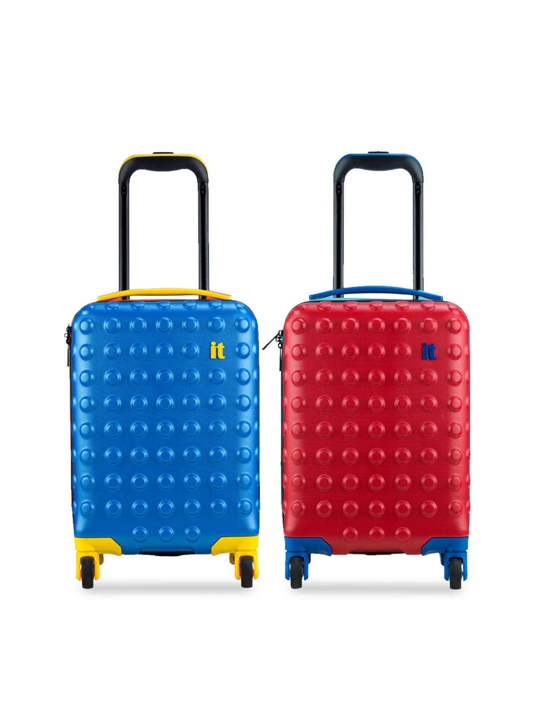IT luggage Unisex Kids Set of 2 Textured Hard Side Cabin Trolley Bags