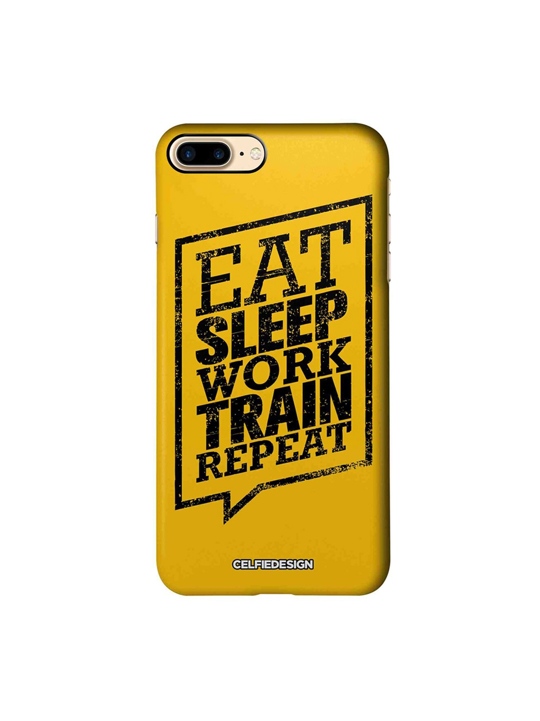 CelfieDesign Yellow   Black Eat Sleep Apple iPhone 7 Plus Sustainable Back Cover