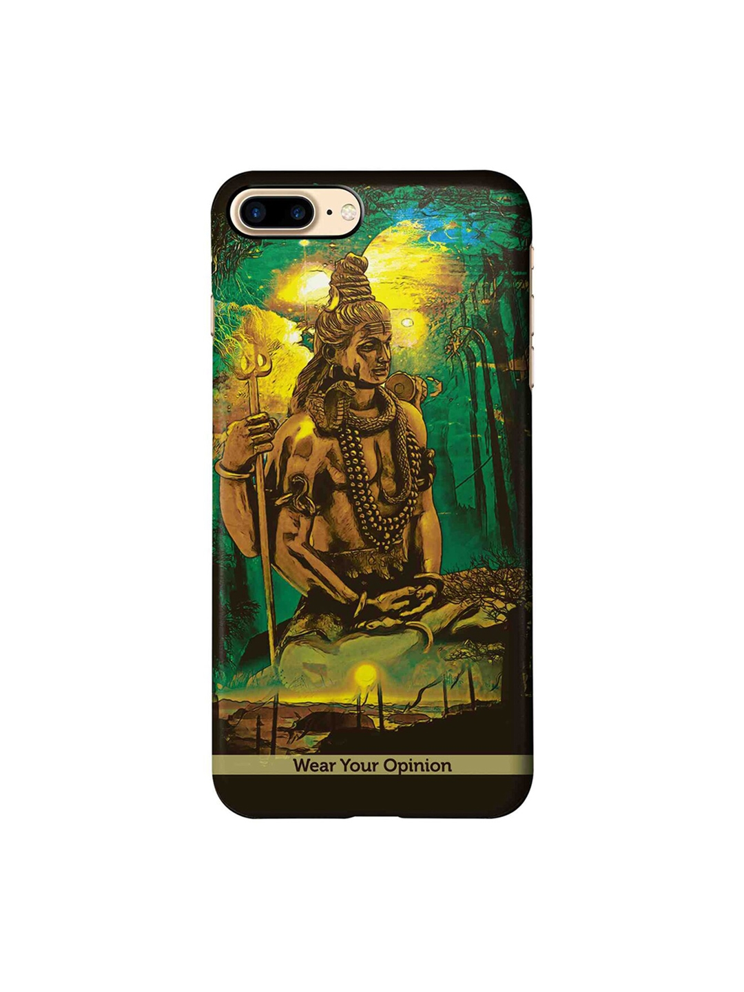 CelfieDesign Brown   Green Lord Shiva Apple iPhone 7 Plus Sustainable Back Cover