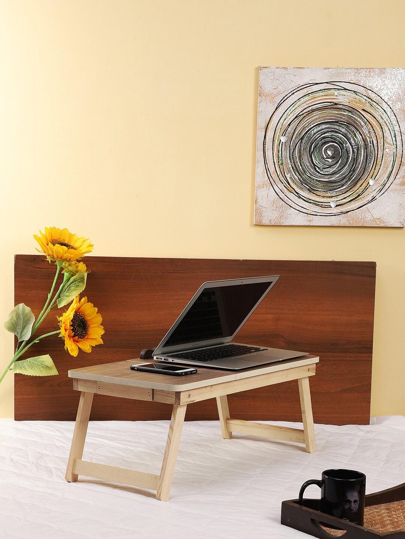 CDI Unisex Beige Portable Folding Laptop Cum Study Table