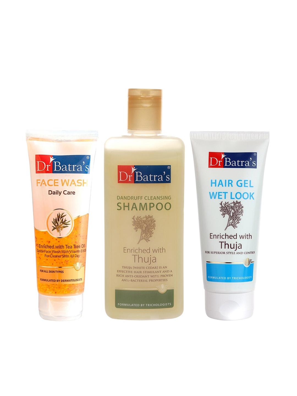 Dr Batra's Dandruff Cleansing Shampoo, Hair Gel and Face Wash
