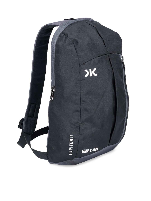 Killer Unisex Black   Grey Colourblocked Backpacks