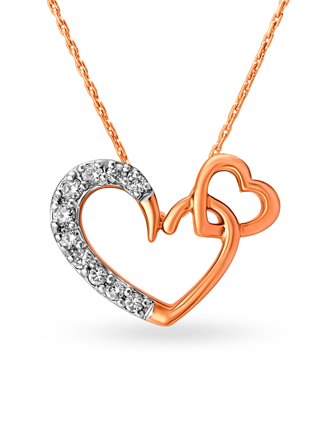Mia by Tanishq 14KT Rose Gold Diamond Pendant