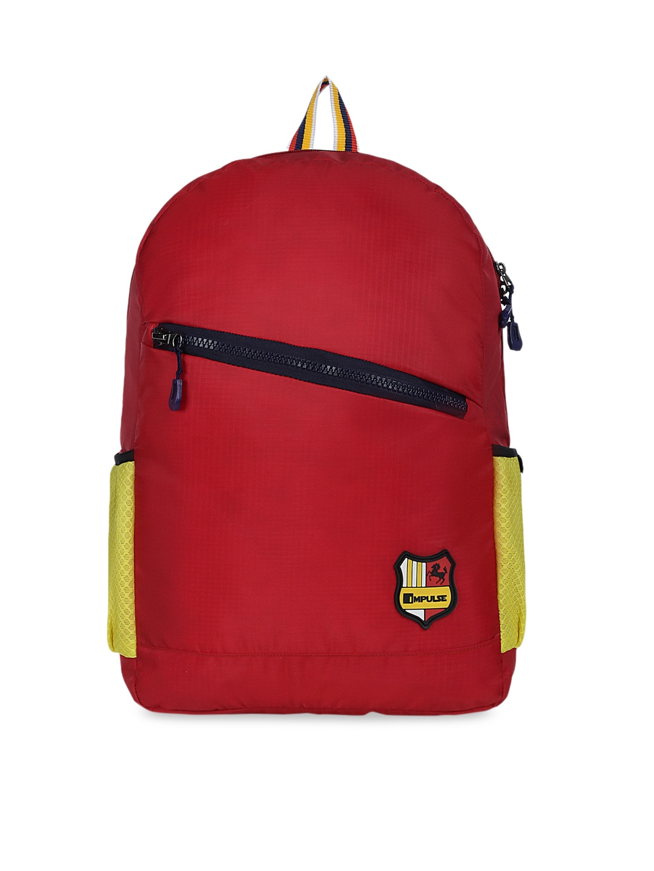 Impulse Kids Red Solid Backpack 30L