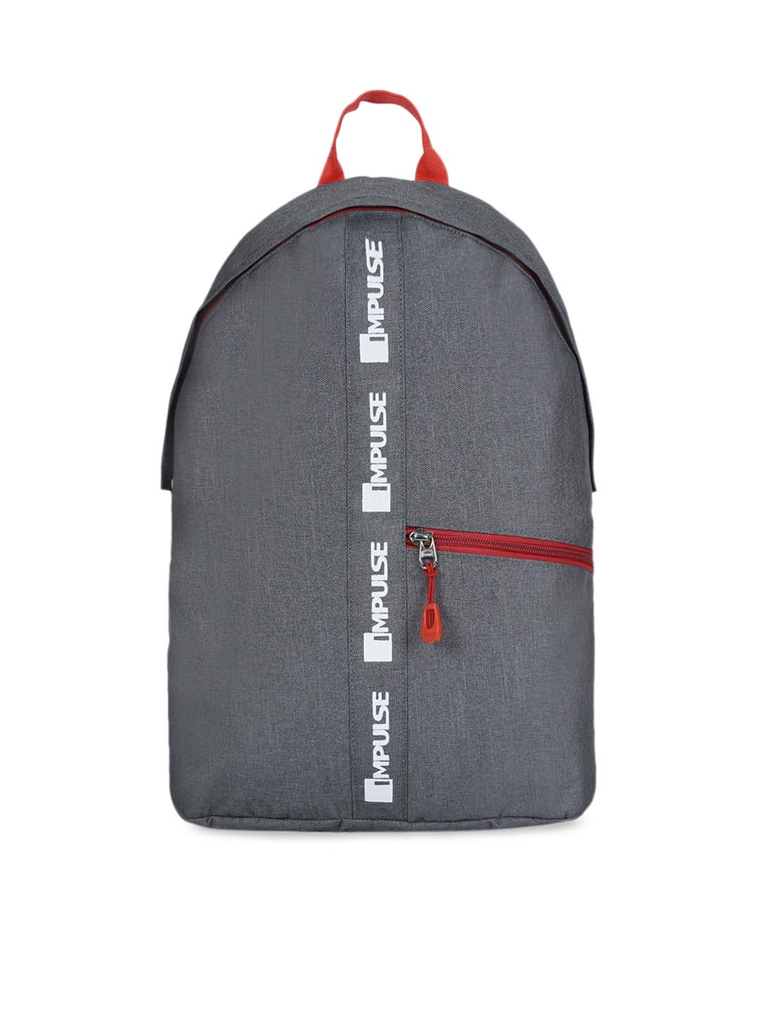 Impulse Kids Grey Solid Backpack 20L