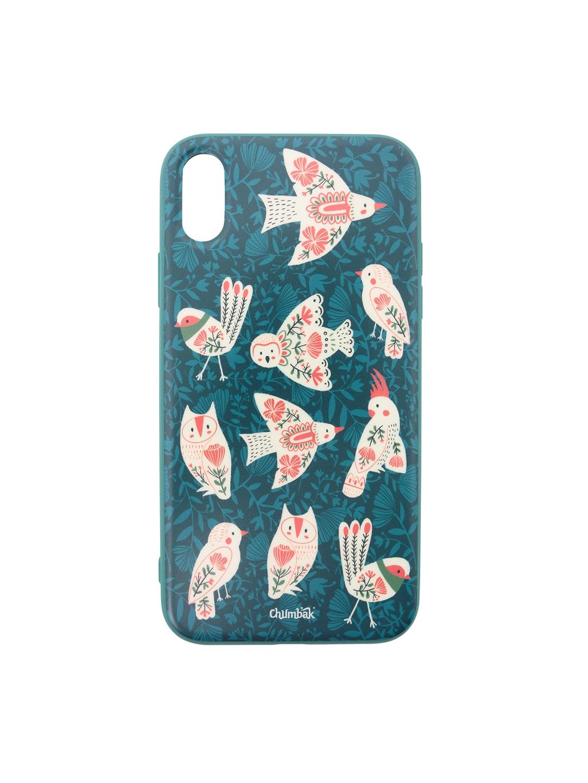 Chumbak Green   White Birdy Diaries iPhone XR Case Cover