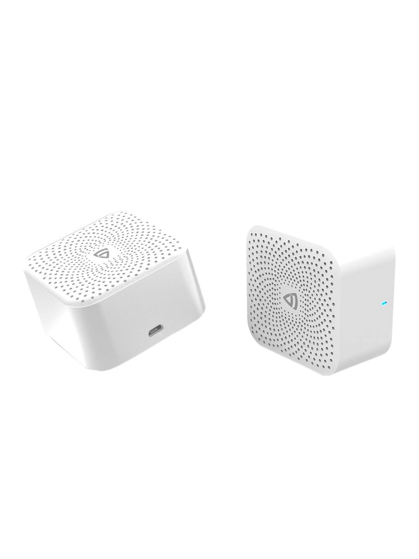 RAEGR Unisex Set of 2 White AirDrums 400 TWS Mini Wireless Bluetooth Speaker