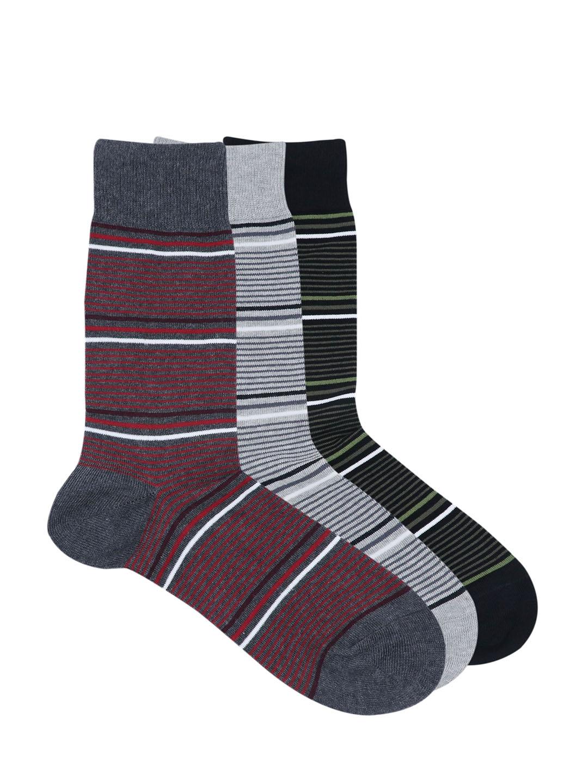 Balenzia Men Pack of 3 Assorted Calf Length Socks