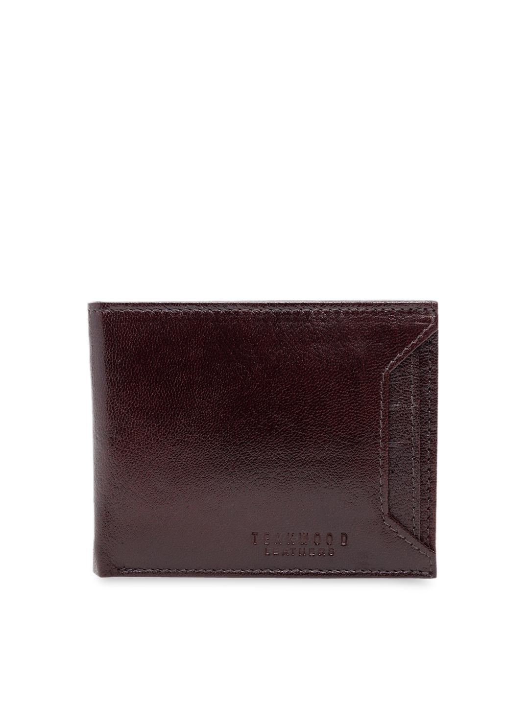 Teakwood Leathers Men Brown Textured Leather Wallet
