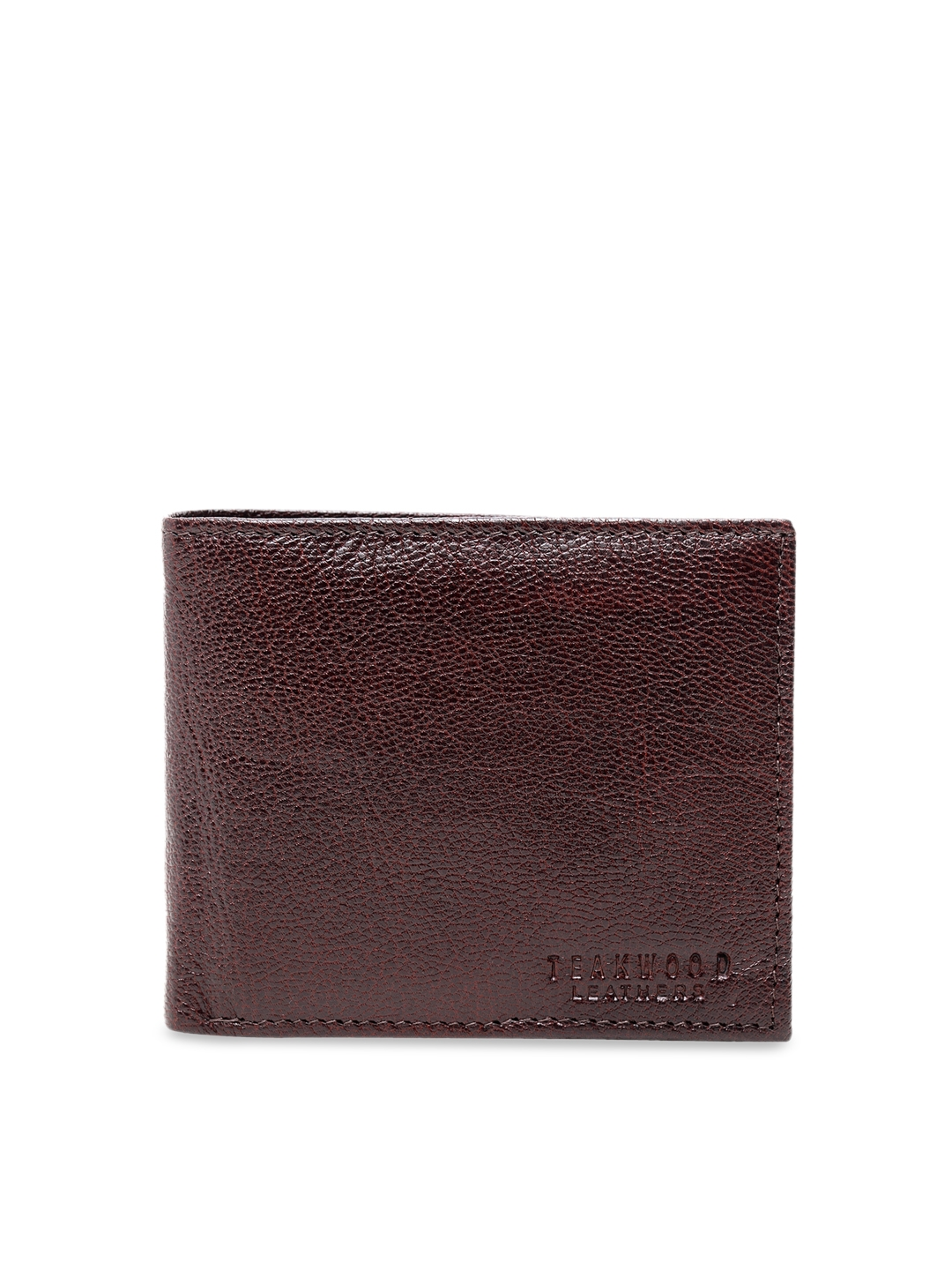 Teakwood Leathers Men Brown Solid Leather Money Clip