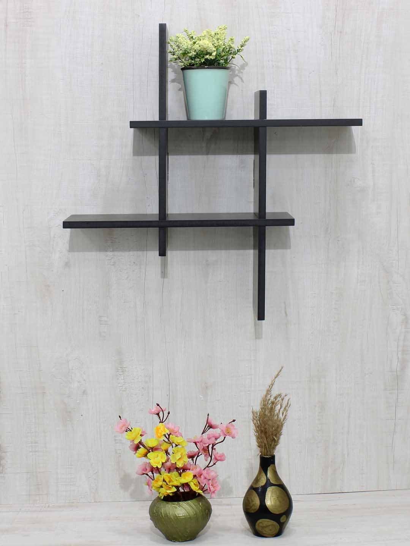 RANDOM Black MDF Basic Wall Shelf
