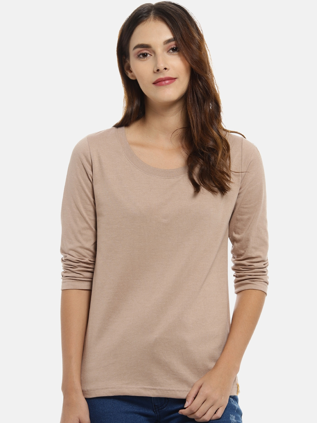 Campus Sutra Women Brown Solid Top