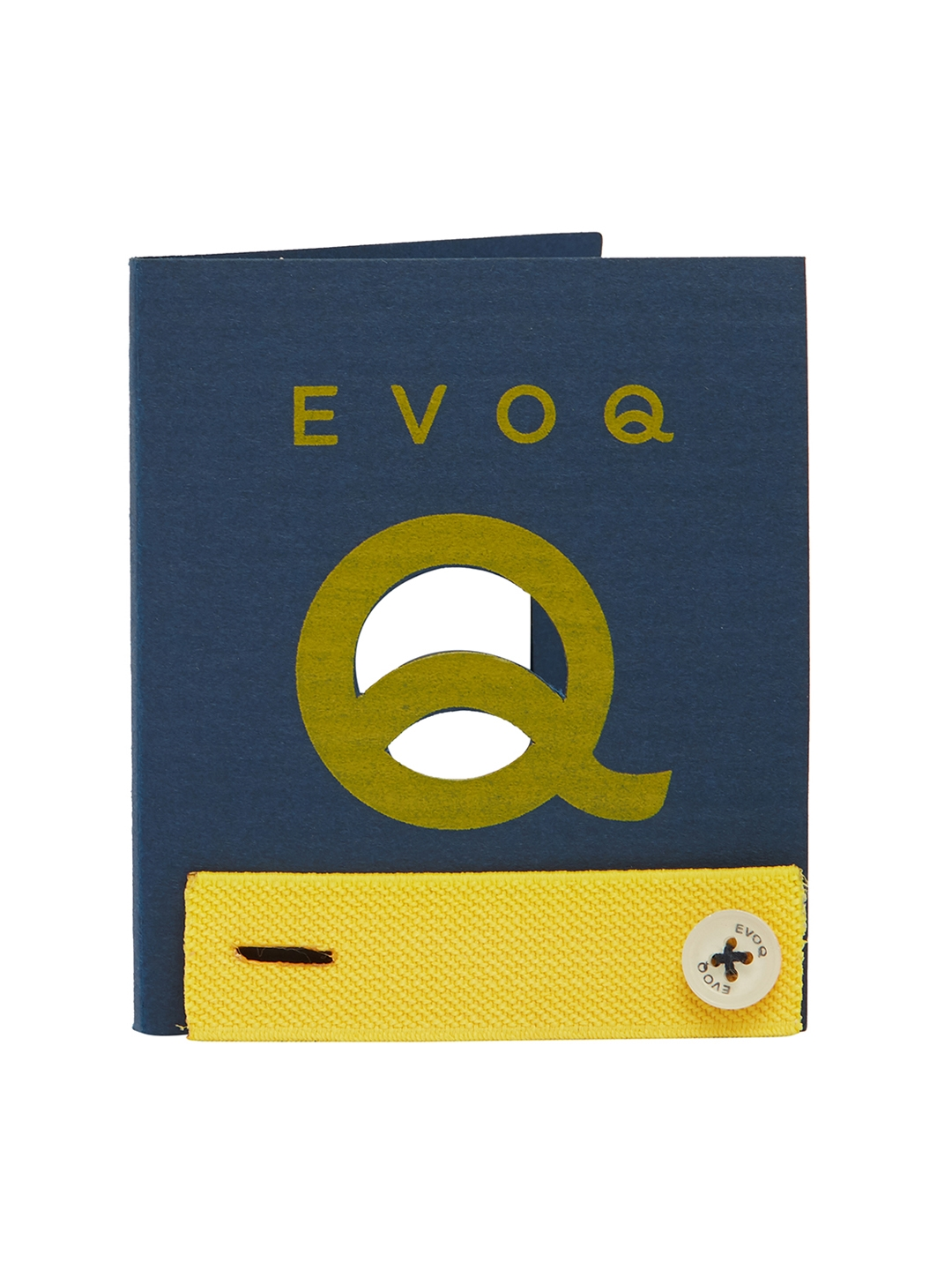 EVOQ Men Set Of 2 Yellow Solid Cuff Bands