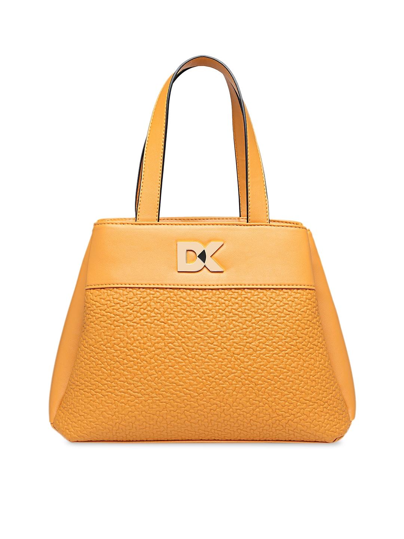 Diana Korr Yellow Textured Handheld Bag