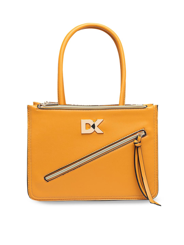 Diana Korr Yellow Solid Handheld Bag