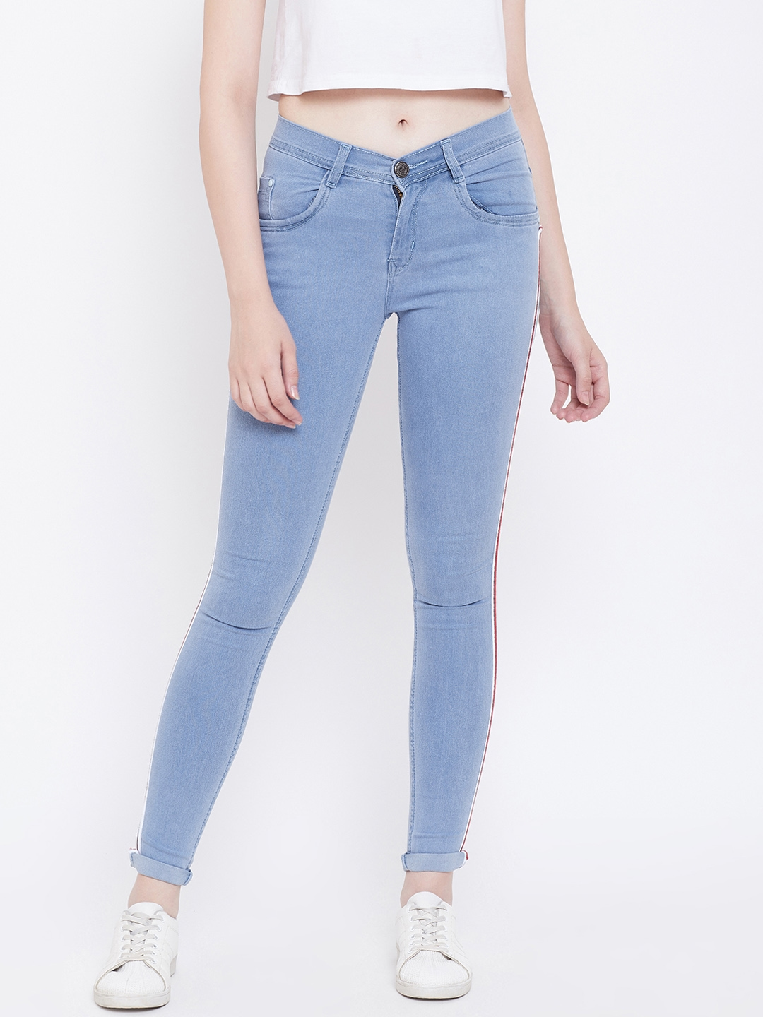 Nifty Women Blue Slim Fit Mid Rise Clean Look Stretchable Jeans