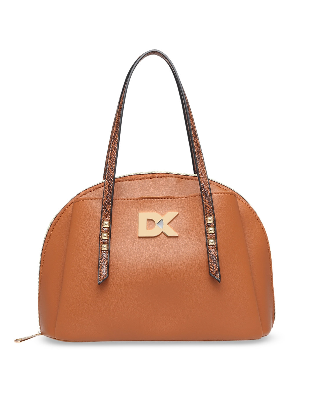 Diana Korr Tan Brown Solid Handheld Bag
