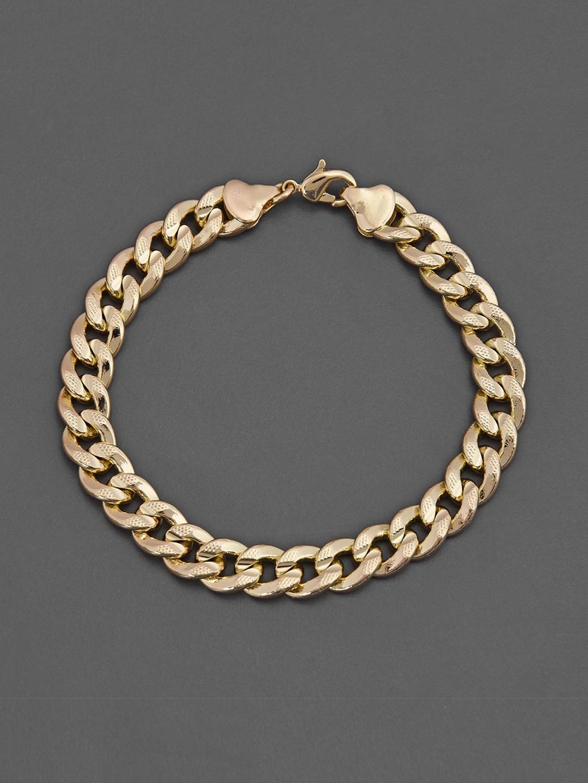 Tistabene Men Gold Plated Alloy Link Bracelet