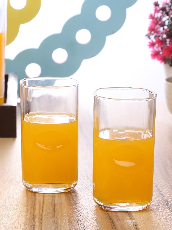 ceradeco Transparent 6 Pieces Solid Glass Glasses Set