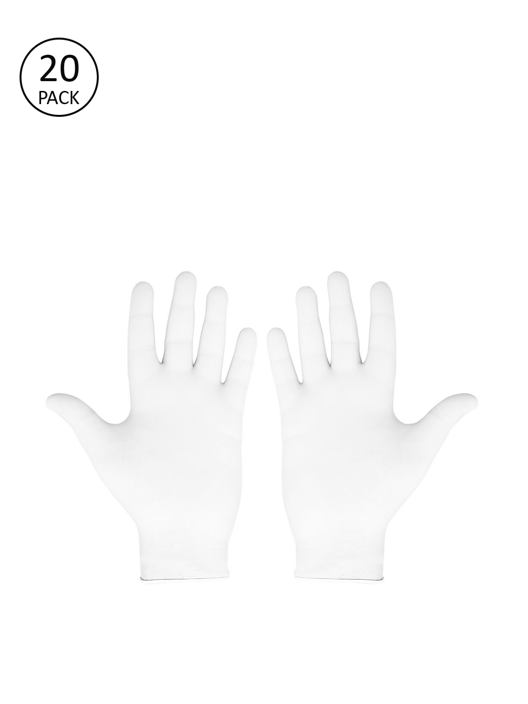 LONDON FASHION hob Unisex Pack Of 20 White Solid Surgical Disposable Hand Gloves