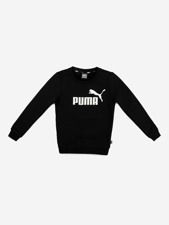 Puma Boys Black Puma Brand Logo Printed Printed Sweatshirt