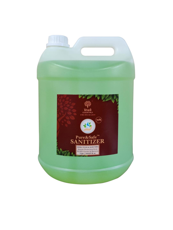 KHADI ESSENTIALS Pure   Safe Instant Multi Purpose Sanitizer 5L