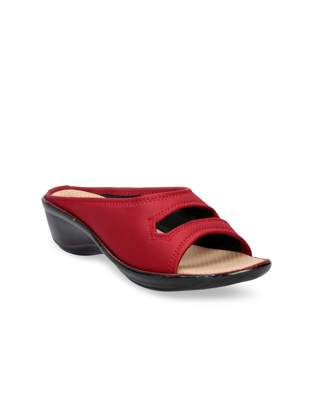 Khadims Women Red Solid Wedges