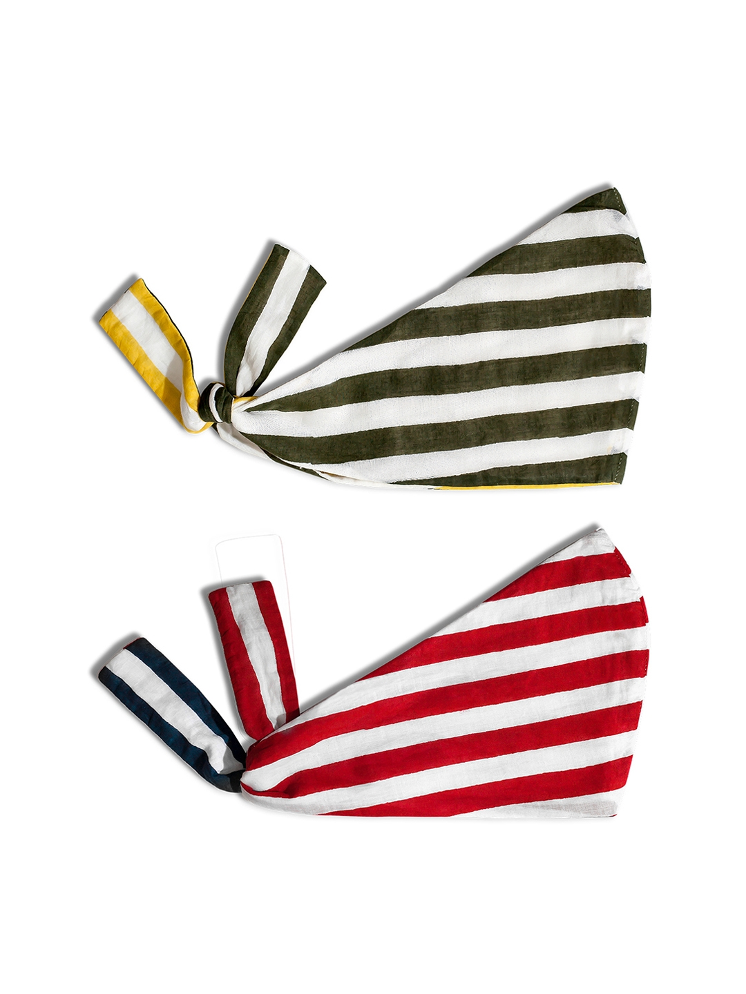 DailyObjects Adults Pack of 2 Striped 4 Ply Cloth Masks