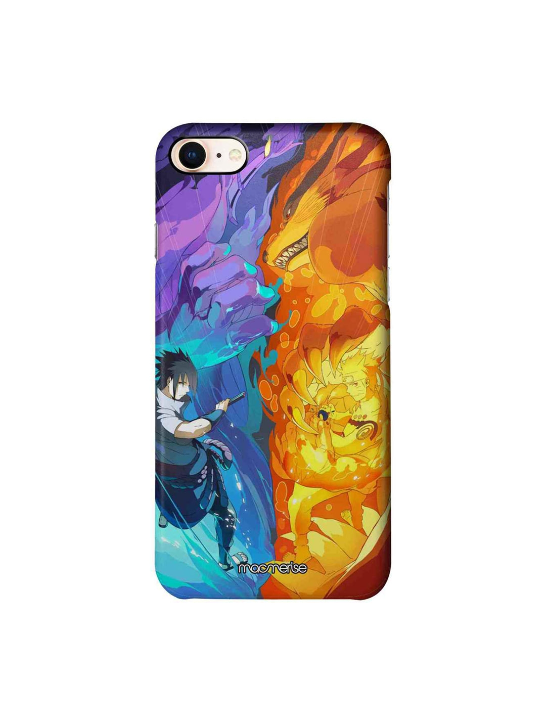 macmerise Blue   Yellow Susanoo Vs Kurama iPhone 8 Case