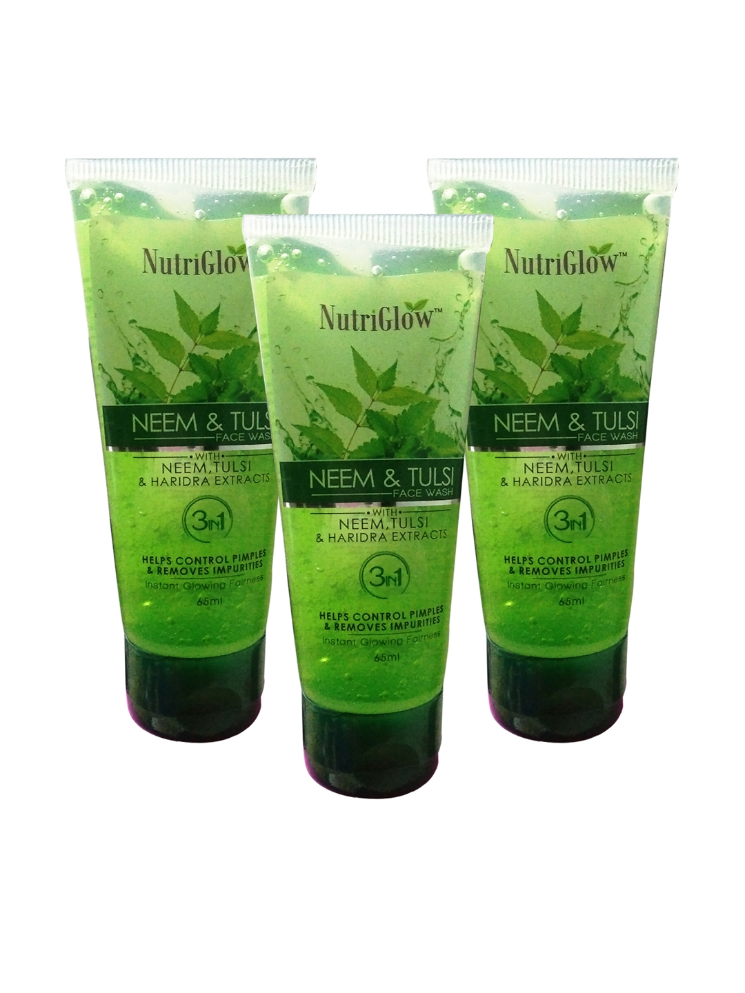 NutriGlow Pack of 3 Neem   Tulsi Face Wash