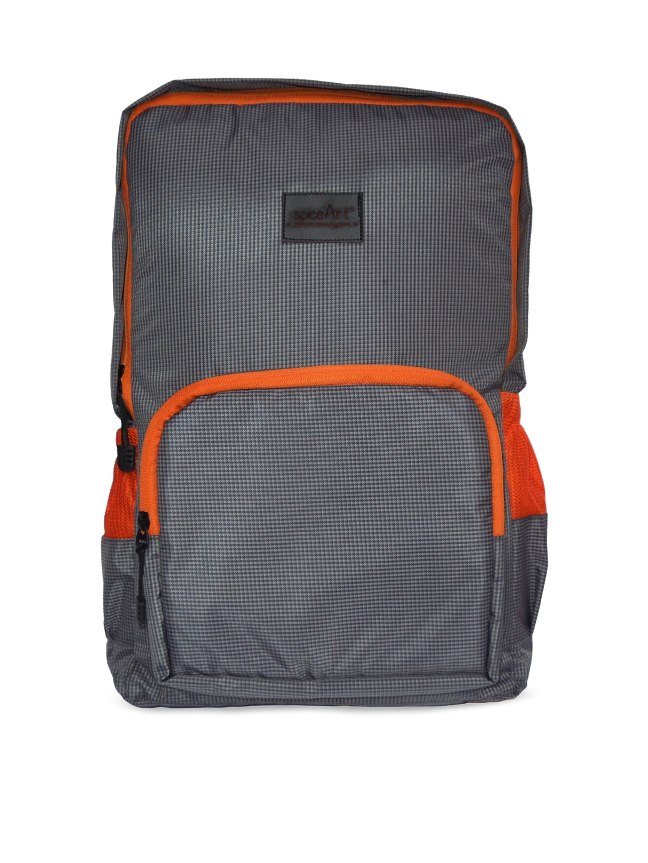 Spice Art Unisex Grey   Orange Backpack
