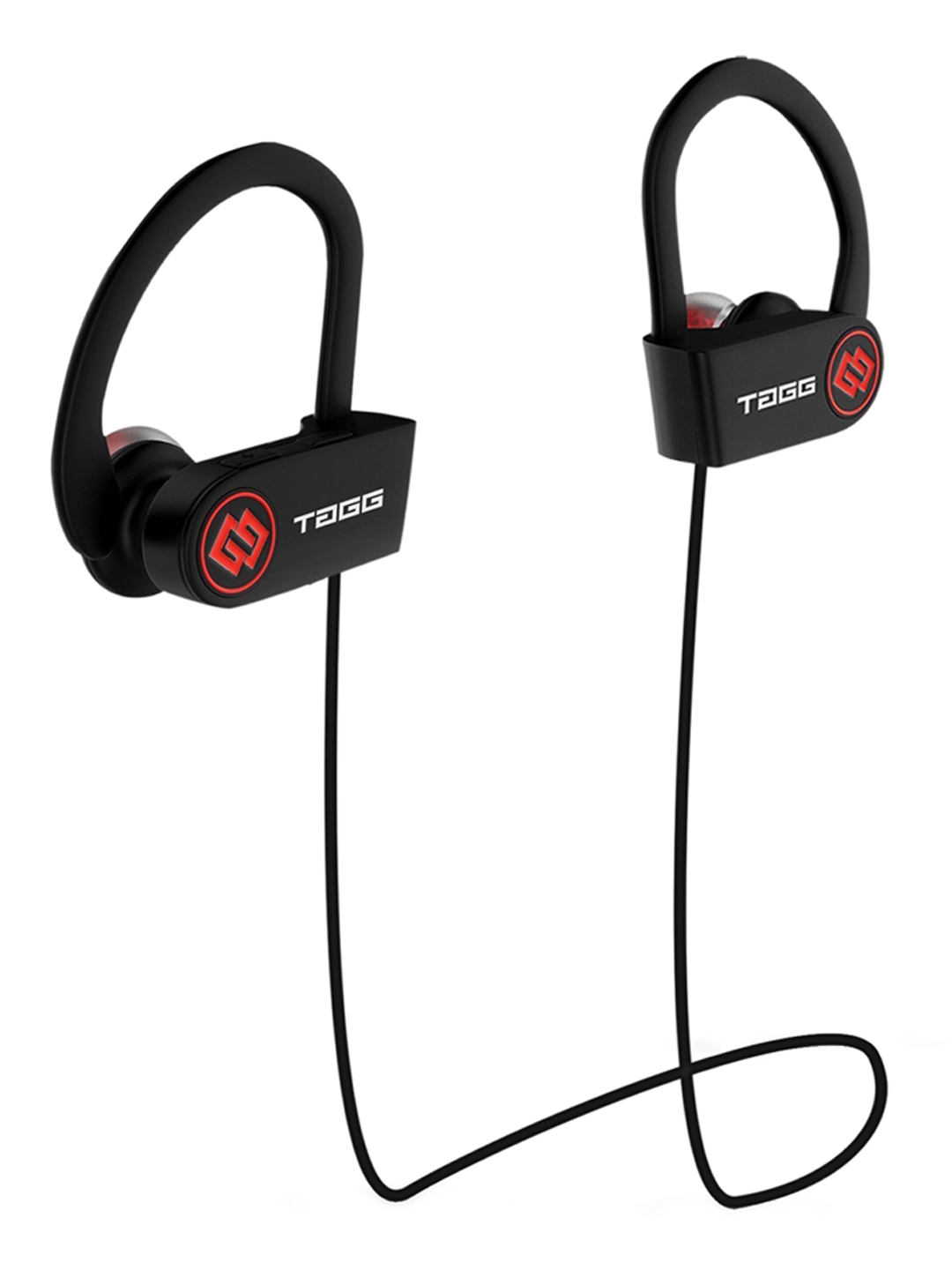 TAGG Black   Red Solid Wireless Bluetooth Headphone with Mic