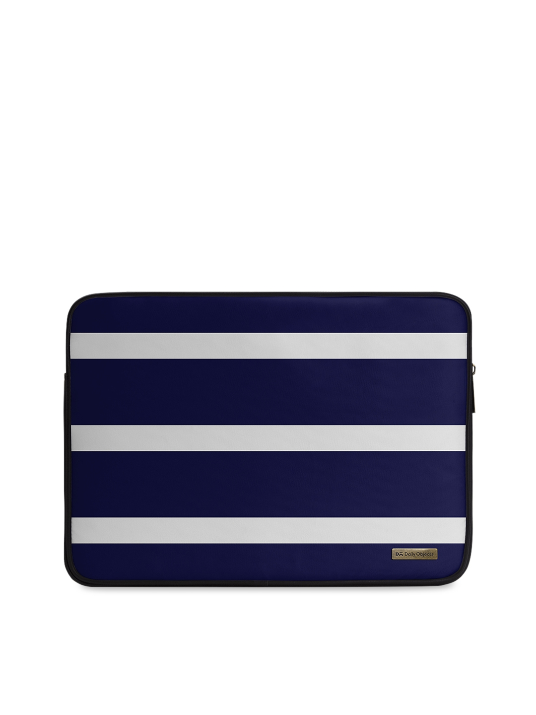 DailyObjects Unisex Navy Blue   White Striped 13 inch Laptop Sleeve